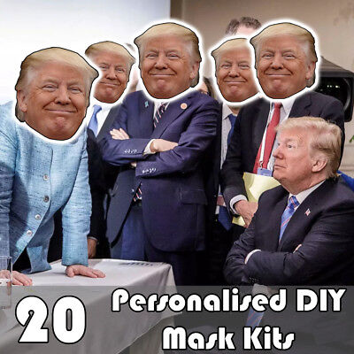 20 Pack Of Personalised Diy Face Mask Kits - Custom Party Masks To Make At Home