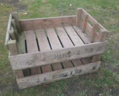 vintage apple crates