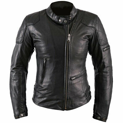Helstons Ladies Leather KS 70 Jacket Motorcycle Motorbike - Black