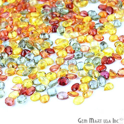 Choose Your Carats Mixed Faceted 5x4mm Oval Pears Multi Sapphire Loose Gemstones