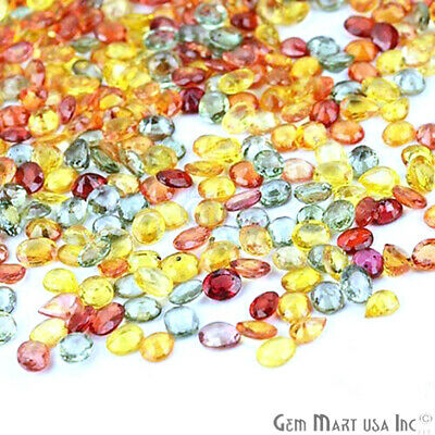 Multi Sapphire Faceted Natural Loose Gemstones Mixed Shapes Gems Lot 5x4mm Size