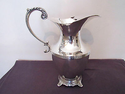Antique silver plate water jug