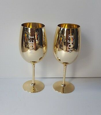 Moet and Chandon 2 x Gold Glass. Brand New!