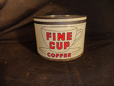 Vintage 1 Lb. Key Wind Fine Cup  Coffee Can Tin Pittsburgh Pa