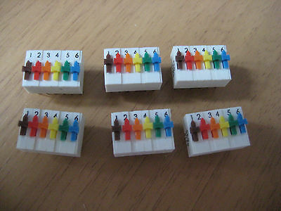 6 off ERG SDS 6 Way Individual On Off PCB Switch DIL DIP package