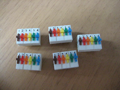 5 off ERG SDS 6 Way Individual On Off PCB Switch DIL DIP package