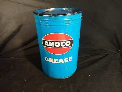 Vintage 5 Pound Lb Amoco Grease Can Gas Garage