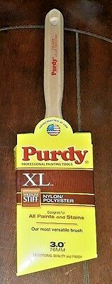 "NIP Purdy 3"" XL GLIDE Medium Stiff Nylon/Polyester Paint Brush! *Free Shipping*"