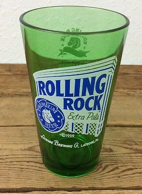 Rolling Rock Extra Pale Beer Glass Latrobe Brewing   (1)