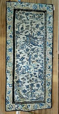 Antique Chinese Embroidery With Forbidden Stitch
