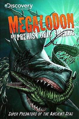 Megalodon And Prehistoric Sharks GN comic signed Discovery Channel predators