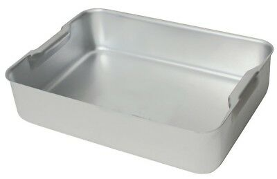Heavy Duty Aluminium Oven Deep Baking Tray Dish 470 x 355 x 100mm