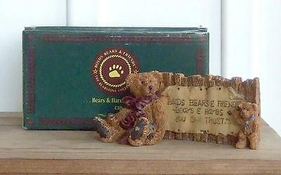 NOS Boyds Bears Grenville & Neville... The Sign from The Bearstone Collection