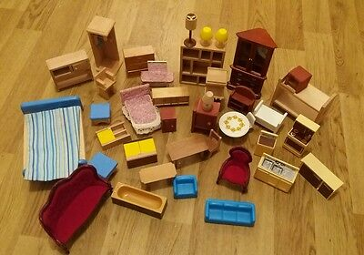 Large Selection Of Assorted Dolls House Furniture Including Lundby All Nice