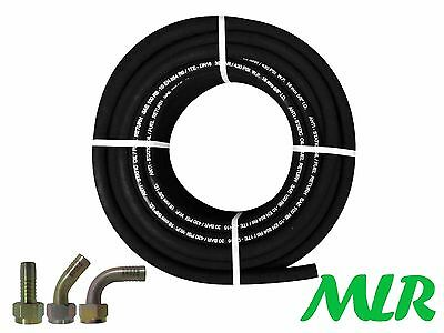 Sae 100R6-10 5/8Bsp Rubber Oil Cooler Hose Pipe With Straight 45 90 Fittings