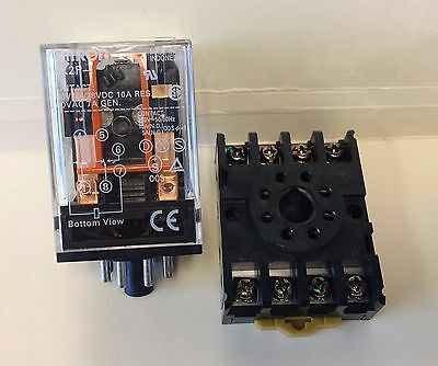 Omron MK2P-I Cube Relay 12 VDC Coil with PF083A Socket Base