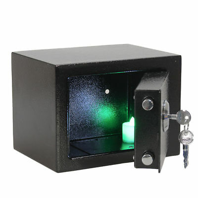High Security Key Lock Fire Proof  Metal Box Cash Money Safe Home Hotel Office