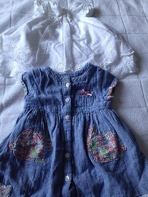 Baby Girls Dress Bundle Age 0-3mths Next & Mini Club Summer
