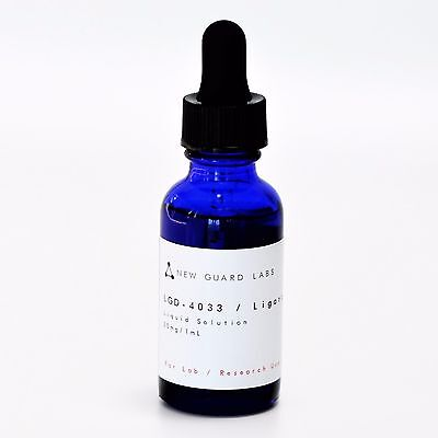 Ligandrol LGD-4033 > 99% Pure Solution 30 mg/mL 30mL Bottle w Calibrated Pipette