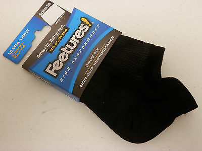 Feetures Socks High Performance Ultra Light No Show Tab Black Size L