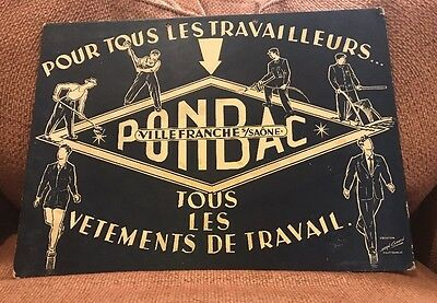 1940's French Store Sign for Work Clothes by Jean Coulon.