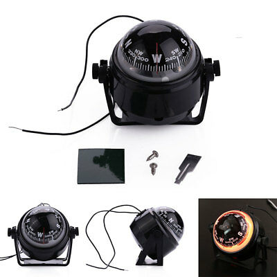 ABS Sea Marine Electronic Boat Caravan Watercraft DC12V Compass LED Light
