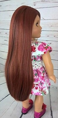 "10-11 Custom Doll Wig fit Blythe-American Girl-1/4 Size Dol ""Charred Copper"" bn4"