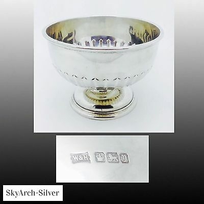 """SOLID SILVER Bowl HALLMARKED SHEFFIELD 1899 Large 5"""" 222g"""