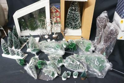 Dept 56 and Other Makers  Accessories Lot  Trees, Trees and More Trees  (113)