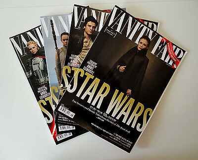 4x Vanity Fair Special Edition Star Wars The Last Jedi Cover Magazines June 2017