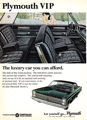 1966 Plymouth VIP: The Luxury Car You Can Afford (25442) Print Ad