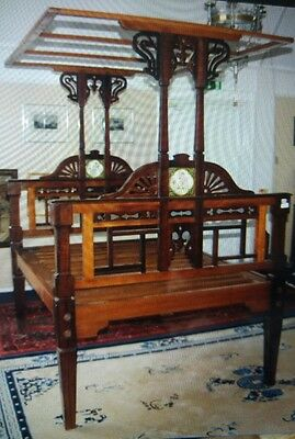 Spectacular late Victorian Colonial Raj tester bed in rose wood