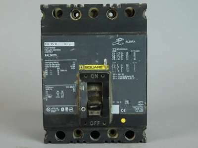 Square D 3-Pole, 15 Amp Circuit Breaker FAL34015