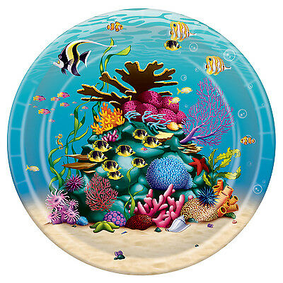 8 Under the Sea Lunch Dinner Plates Coral Reef Ocean Fish Birthday Party Event