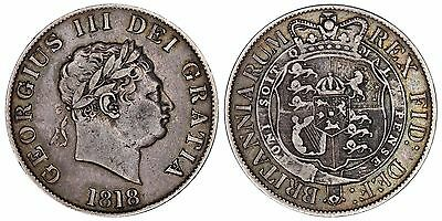 1818 George III Halfcrown Great Britain silver coin