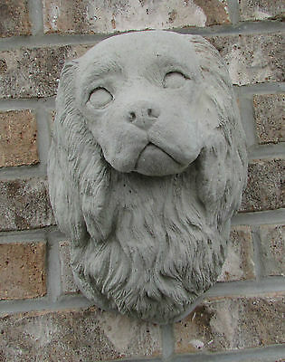 Concrete Cavalier King Charles Spaniel Wall Mount Statue Or Use As A Monument