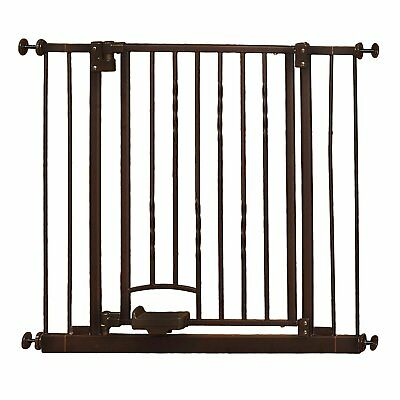 "Supergate Step n Go Gate, Bronze, Fits Spaces between 31.25"" to 38.25"" Wide and"