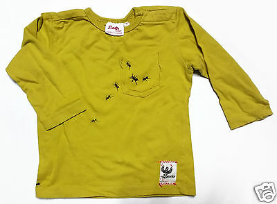 Boys Mustard Scooter Baby Long Sleeve T-shirt Size 1