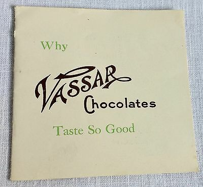 Early 1900s Vassar Chocolate Candy Catalog Booklet Vintage