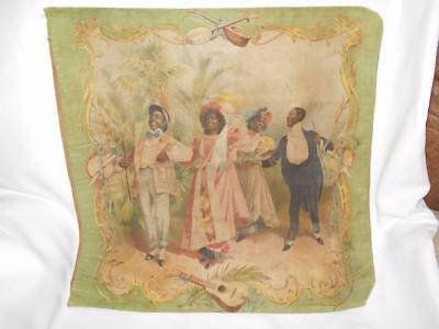 1899 Lithograph on Fabric Pillow Cover Campbell Metzger Jacobson Black Americana
