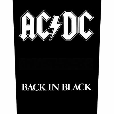Ac/dc Back Patch Back In Black  Band Acdc