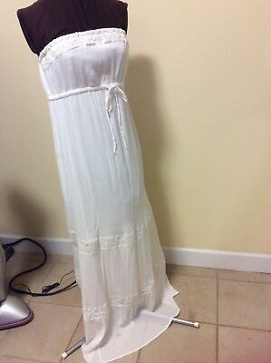 Womens Maternity By Old Navy Maxi Dress Strapless Off White Size L