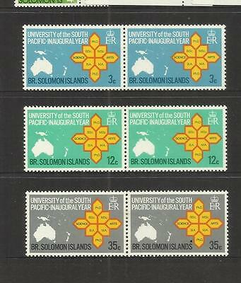 Solomon Islands ~ 1969 South Pacific University Year (Mint Set Mh) Pairs