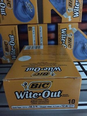 Bic Wite-Out Correction Tape Non-Refillable 10 Pack Value-Pack Factory Sealed