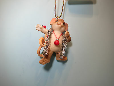 CHARMING TAILS-It's All About The Tinsel Holiday Ornament-New