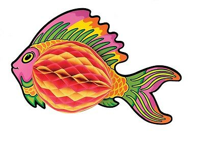 Pink Art-Tissue Tropical Fish Under the Sea Life Decoration Birthday Party Event