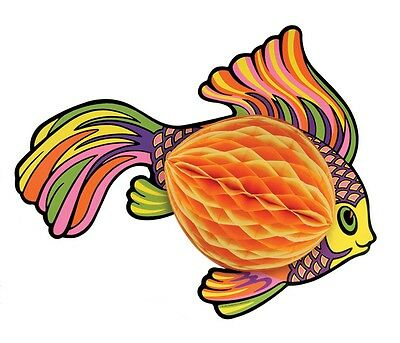 Yellow Art-Tissue Tropical Fish Under the Sea Decoration Birthday Party Event