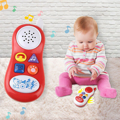 Baby Cartoon Cell Phone Study Music Toys Educational Developmental Kids Toy Gift