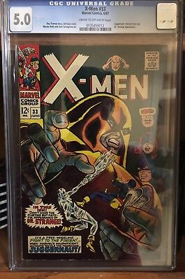 X-Men Issue 33 CGC 5.0 Juggernaut And Doctor Strange Appearances