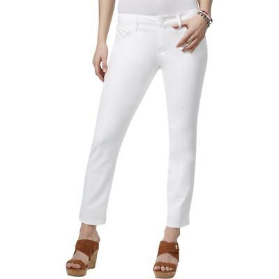 Tommy Hilfiger NEW Classic White Womens Size 12 Cropped Denim Jeans $59 436